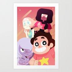 Steven Universe gems Art Print