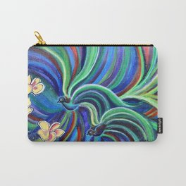 Bird Symphony With Frangipani Carry-All Pouch