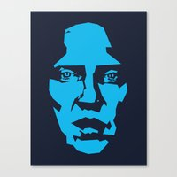 christopher walken Canvas Prints featuring Walken by Aaron Synaptyx Fimister
