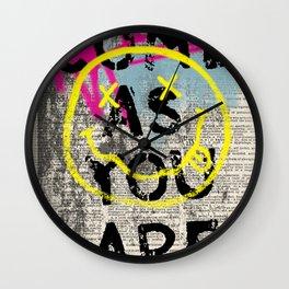 GRUNGE ROCK ART Wall Clock