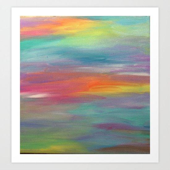 Opal Landscape Art Print