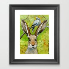 Funny bunnies-thoughts of love 836 Framed Art Print