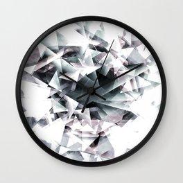 Modern Black and White Diamond Abstract Geometric Wall Clock