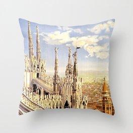 Vintage poster - Milano Throw Pillow