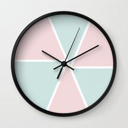 Sweet Triangles Wall Clock