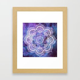 Galaxy Mandala Purple Lavender Blue Framed Art Print