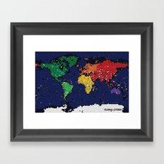Global Citizen Framed Art Print