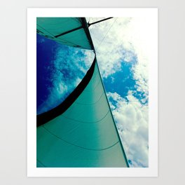 A Beautiful Day for Sailing Art Print