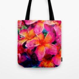 Tropical Flowers by Lika Ramati Tote Bag