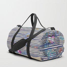 vintage striped tattoo Duffle Bag