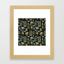 Island Tiki - Black Framed Art Print