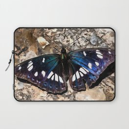 Southern White Admiral On Stone Butterfly Portrait Laptop Sleeve