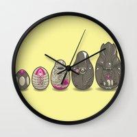 xenomorph Wall Clocks featuring Xenomatryoshka by Kate Moore