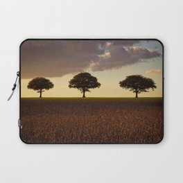 Three Trees At Golden Hour Laptop Sleeve