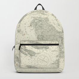 Vintage Map Print - Admiralty Chart No 2840 Haro and Rosario Straits, 1908 Backpack