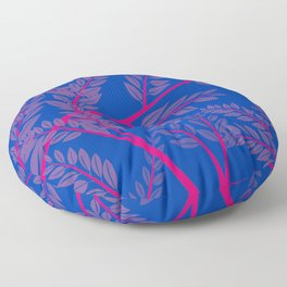 Bisexual Pride Overlapping Simple Leafy Branches Floor Pillow