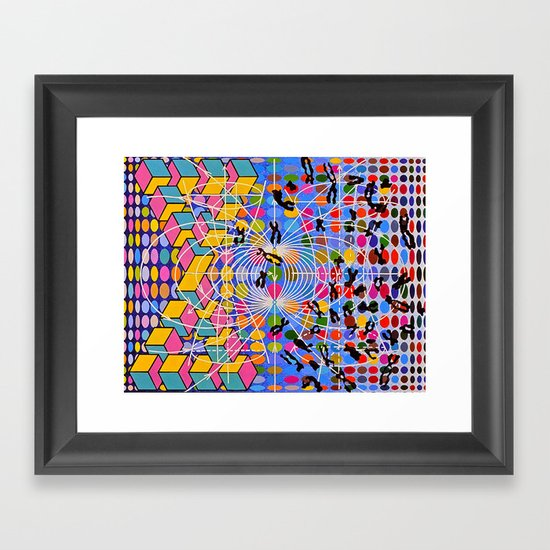 Simstim Framed Art Print