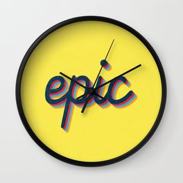 Epic - yellow version Wall Clock