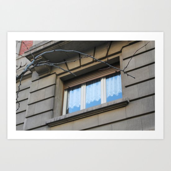 Barcelona window - Gothic quarter Art Print