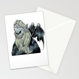 Bearded Creep with Wings Stationery Cards