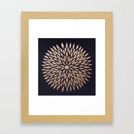 Rose Gold Flower Framed Art Print