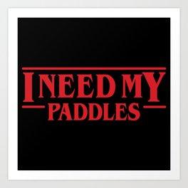 Strange Paddles Art Print