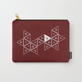 Red Unrolled D20 Carry-All Pouch