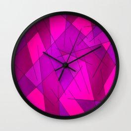 ABSTRACT LINES #1 (Purples, Violets, Fuchsias & Magentas) Wall Clock