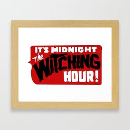 That time of night Framed Art Print