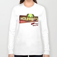 hollywood Long Sleeve T-shirts featuring Hollywood Neon by Umbrella Design