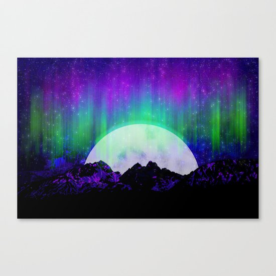 Under the Northern Lights Canvas Print