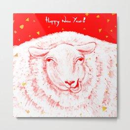 Year of the sheep Metal Print