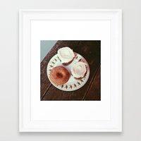 dessert Framed Art Prints featuring dessert by strange pilgrims
