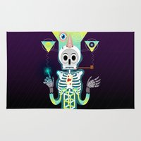skeleton Area & Throw Rugs featuring Skeleton by Matej