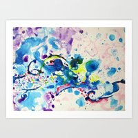 fairies Art Prints featuring Fairies by Pajaritaflora
