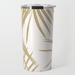 Gold Palm Leaves Dream #1 #tropical #decor #art #society6 Travel Mug