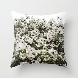 Demure Dogwood Throw Pillow