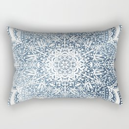 BLUEISH SEA FLOWER MANDALA Rectangular Pillow
