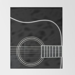 Guitar BW Throw Blanket
