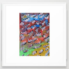 Rainbow Fall Framed Art Print
