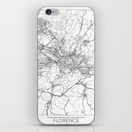 Florence Map White iPhone Skin