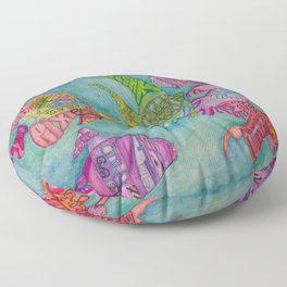 Fish in many languages Floor Pillow