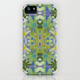 Garden Party - moss and mint iPhone Case