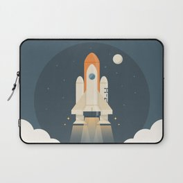 Spaceship Launch Laptop Sleeve