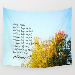 Philippians 4:8 Whatever is True Wall Tapestry