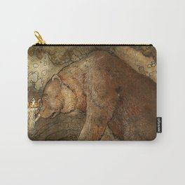 """""""She Kissed the Bear"""" by John Bauer Carry-All Pouch"""