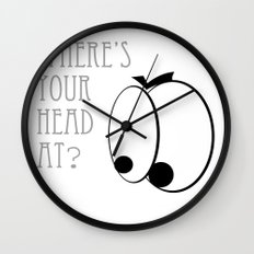 Where's your head at? Wall Clock