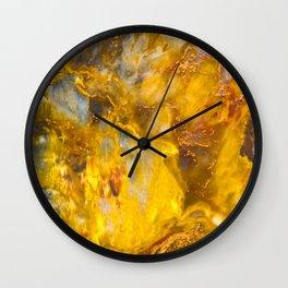 Fire Crystal - gemstones, photography #society6 Wall Clock