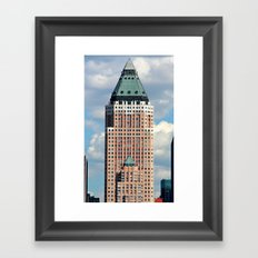 New York Father/Son Buildings Framed Art Print