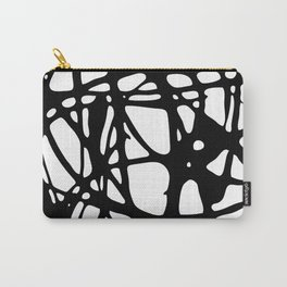 Black and White Abstract Painting I Carry-All Pouch